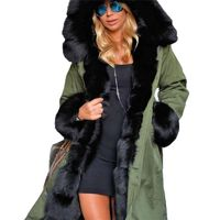 GloryA Mens Faux Fur Hoodie Thick Solid Quilted Outerwear Parka Coat