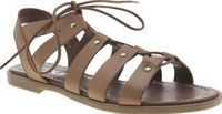 Schuh Tan Grand Slam Womens Sandals Make a Grand Slam in the style department this summer, in a pair of these chic sandals from schuh. The tan leather lace-up design features bronze stud detail and a cushioned insole for comfy wear. A s http://www.compare...