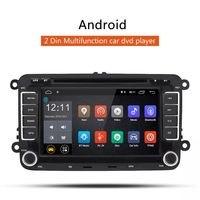 7 inch 2 DIN for Android Car Stereo DVD Radio Player Quad Core 1G+16G Capacitive Touch Screen GPS Wifi bluetooth HD for VW Passat Golf Jetta Seat Skoda