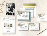 In tune with their immaculate wedding suites, the Minted wedding websites are fresh, clean, and pretty. Create yours and manage wedding planning easily!