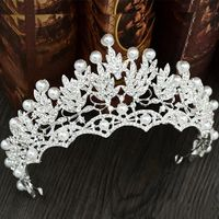 Pearls Diamond Wedding Crowns Bridal Headpieces Headbands Women Crystal Jewelry Tiaras Wholesale Party Quinceanera Birthday Hair Accessories