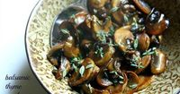 These wonderful Balsamic Thyme Mushrooms are the perfect side for steak - or are great just on their own!