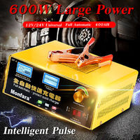 12/24V 400Ah 25A 600W 110-250V Car Motorcycle Battery Charger