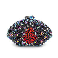 WOMEN CLUTCH / EVENING BAG Colourful Flower Clutch Handbag