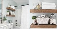 See how one blogger transformed a basic bathroom into a rustic oasis.
