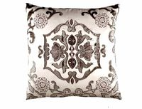 Morocco Ivory & Silver Pillow by Lili Alessandra $325.00