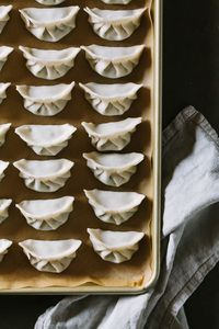 a recipe for Pork, Chard, and Chive Dumplings + a wrapping tutorial with step-by-step photos for beautifully wrapped dumplings