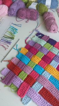 Woven strips...great idea..also can be done in knitting..