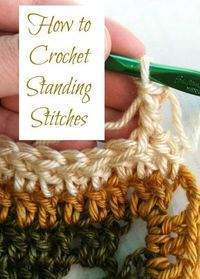 Free crochet tutorial on how to to standing stitches ... great way to get rid of those telltale beginning chains!