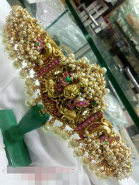 Indian vaddanam or waist belt with beautiful pearl's work $225.00