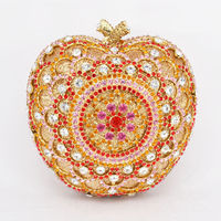 Women Apple luxury Evening Crystal Bag $146.25
