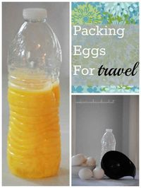 "A 16-ounce water bottle will hold 8�€""9 large eggs. 
