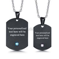 Gullei.com Name Plate Relationship Necklaces Gift for Girlfriend Boyfriend