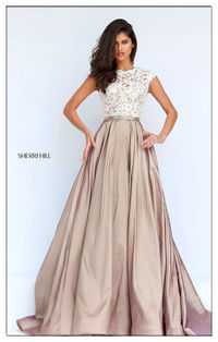 Sherri Hill 50843 Hot Sale Ivory Nude Prom Lace Dress
