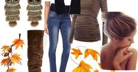 """""""Fall Maternity"""" by kmpeterson18 on Polyvore. I might skip the owl earrings, but I love the rest of it."""