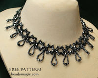 Free pattern for beaded necklace Nova