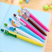 Pack of 10 Animal Theme Ballpoint Pens. Different Colours. School and Office Stationery. £7.99