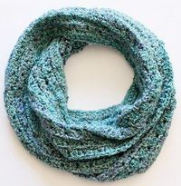 Perfect for any month of the year, this Sea Foam Infinity Scarf is a great way to add a pop of color to any outfit. Easy enough for even the newest of crochet f