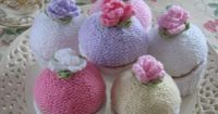 Knitted Cupcake pattern alp me re the patterns included and could you please share them I donate all items to shelters and hospitals please he