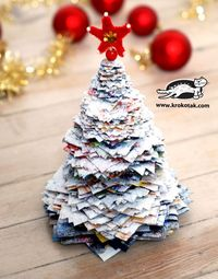 Leaflet Christmas tree, well covered in salt:)