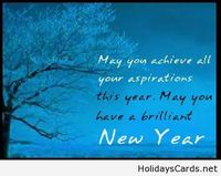 May you achieve all your aspirations in the new year