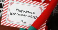 Elf notes....this is just scary. Santa is spying on you and leaving disapproving notes with his creepy little elf? Ew.