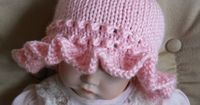 Ruffle brim hat--cute