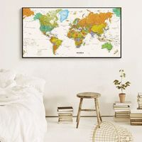 World Map Decorative Vintage poster office $59.00