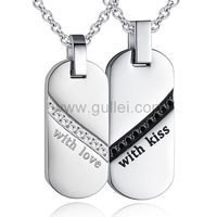 Gullei.com Custom Engraved Promise Couples Necklaces Set https://www.gullei.com/couples-gift-ideas/matching-couple-necklaces.html