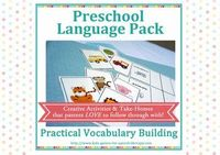 Preschool Speech Therapy Activities: Printable Materials for teaching early vocabulary. $