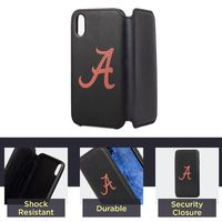 Alabama Crimson Tide iPhone X Xs Wallet Phone Case & Card Holder $29.99