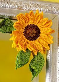 Crochet Sunflower Decoration | AllFreeCrochet.com