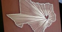 Nail + String Art. I want to eventually make one of these for each state that we visit together & have them around our house.