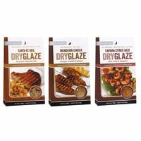 Urban Accents All Natural Grilling And Roasting DryGlaze 3 Flavor Variety Bundle $20.98