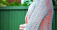 Easy crochet cardigan free pattern