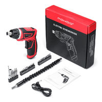 MOHOO 3.6V 2000mAh USB Electric Screwdriver Cordless Power Screw Driver Tool with 28 Accessories