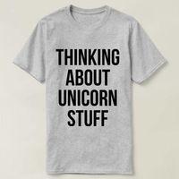 Thinking About Unicorn Stuff T-shirt, Unisex Crewneck T-shirt, Funny Unicorn T-shirt, Unicorn Lover, Unicorn Stuff Shirt, Unicorn Shirt $16.50
