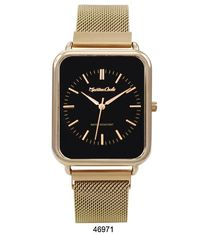 Montres Carlo Gold Stainless Steel Mesh Band Watch with Magnetic Strap $28.96