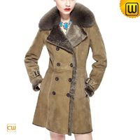 Double Breasted Shearling Coat for Women CW640230