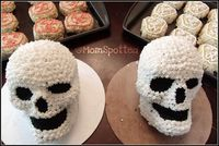 So as many of you know through my many posts about Johnny's Halloween Birthday Party I made the Wilton's Dimensions® 3-D Skull Pan as his party cake. I have had