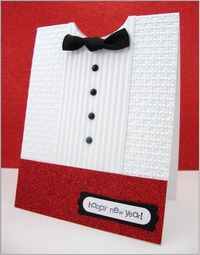 Masculine - very good use of embossing folders. New Years Eve? Wedding?