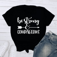 Be Strong and Courageous Short-Sleeve T-Shirt $19.99