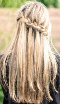 This looks a lot better if you do it coming off the front of your face instead of across the back. It's cute though and really easy to do if you know how to french braid already.