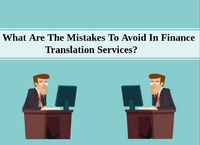 What Are The Mistakes To Avoid In Finance Translation Services?- https://bit.ly/2NCUYKL