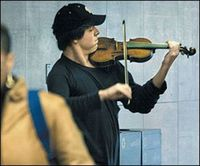 Joshua Bell is one of the world's greatest violinists. His instrument of choice is a multimillion-dollar Stradivarius. If he played it for spare change, incogni