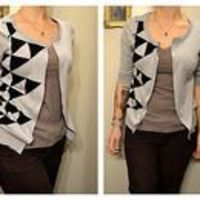 No-Sew Old Sweater into a New Cardigan Tutorial