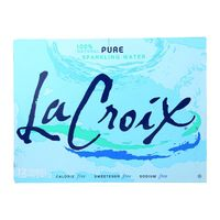 Lacroix Natural Sparkling Water - Pack of 2 - 12 Fl oz. $80.45
