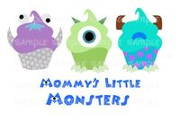 Cupcakes Monsters inc Disney Cupcake by CupcakePrintables on Etsy, $5.00