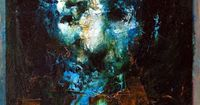 """Blue Man"" by Jean-Luc Almond; Oil, 2013, Painting"