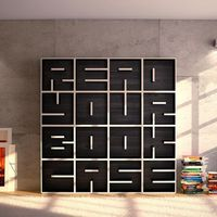 Italian furniture and interior design company, Saporiti has come up with a clever and unique concept for this wooden bookshelf. By playing around with the placement of the shelves within each box, they were able to visibly form the phrase �€œRE...